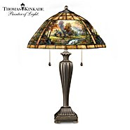 The Bradford Exchange Thomas Kinkade Mountain Retreat Stained Glass Table Lamp at Sears.com