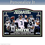 The Bradford Exchange Wall Decor: Commemorative Plaque Seattle Seahawks Super Bowl XLVIII Personalized Wall Decor at Sears.com