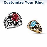 The Bradford Exchange Capture The Memories Personalized Men's Or Women's Class Ring at Sears.com