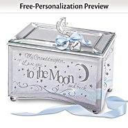 The Bradford Exchange My Granddaughter, I Love You To The Moon Music Box With Poem And Personalized Heart Charm at Sears.com