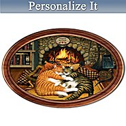 The Bradford Exchange Charles Wysocki Cozy Catnap Purr-fect Pair Personalized Collector Plate at Sears.com