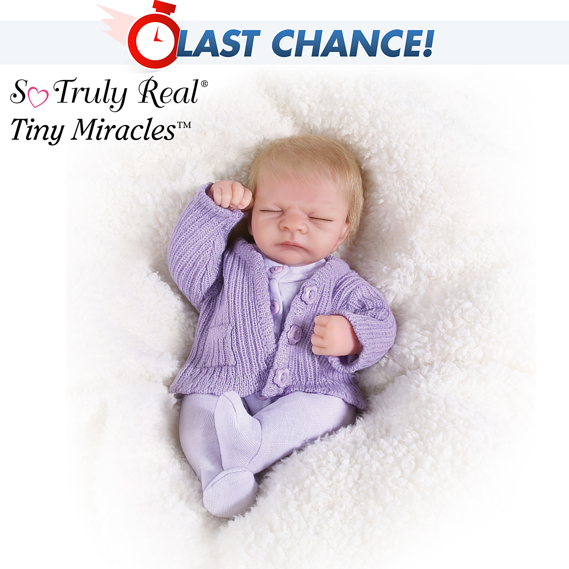 The Ashton-Drake Galleries Tiny Miracles Emma Miniature Lifelike Baby Girl Doll: So Truly Real at Sears.com