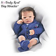 The Ashton-Drake Galleries Tiny Miracles Open Eye Charlie Miniature Realistic Baby Boy Doll at Sears.com