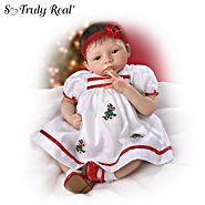 The Ashton-Drake Galleries Noelle's First Christmas Lifelike Collectible Baby Girl Doll: So Truly Real at Sears.com