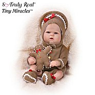 The Ashton-Drake Galleries Tiny Miracles Ginger Ringle In The Holiday Babies: Realistic Lifelike Vinyl Baby Doll at Sears.com