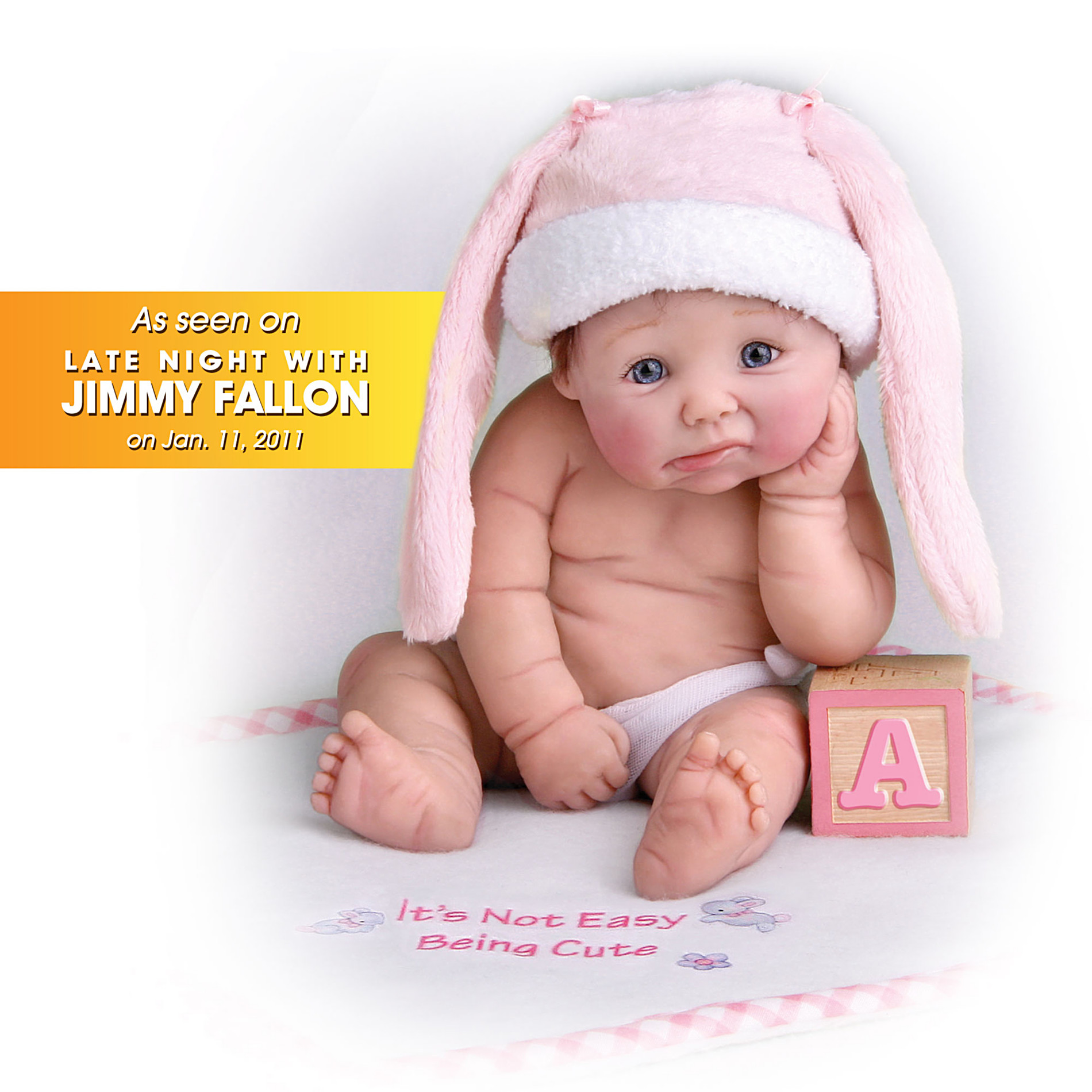 The Ashton-Drake Galleries It's Not Easy Being Cute Resin Doll: Miniature Baby Doll at Sears.com