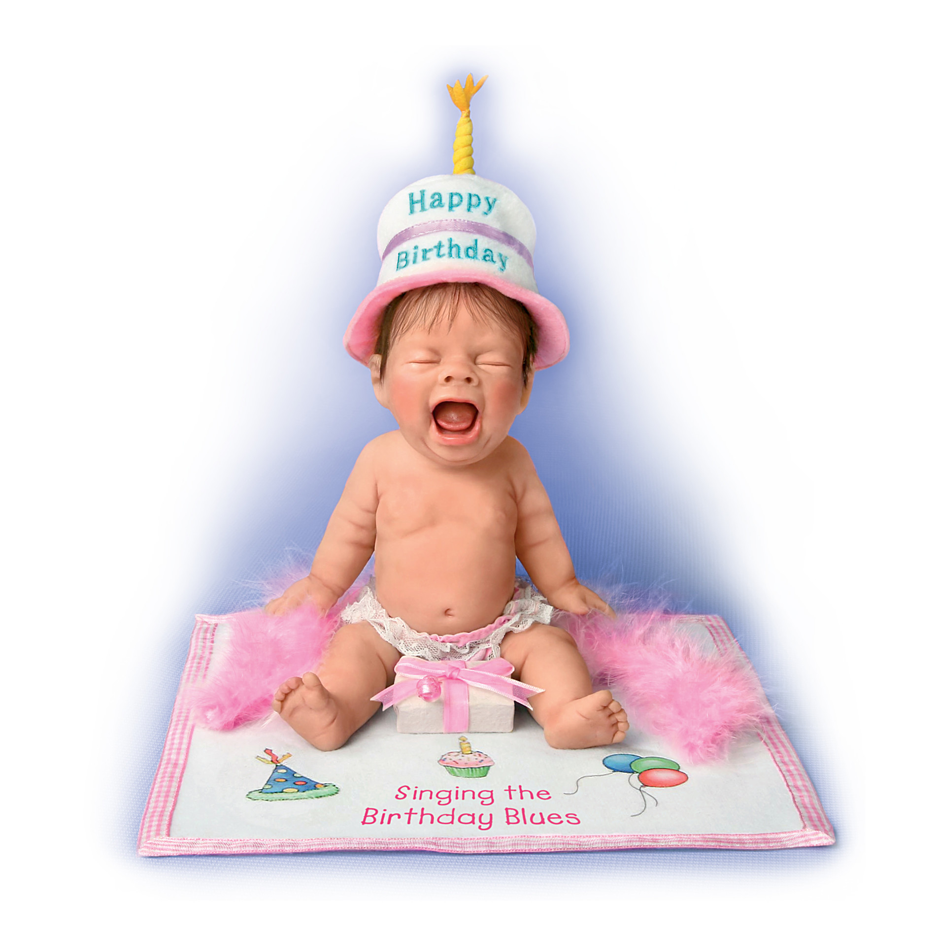 The Ashton-Drake Galleries Singing The Birthday Blues Miniature Collectible Baby Doll at Sears.com