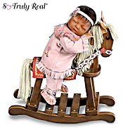 The Ashton Drake Galleries So Truly Real Doll With Wooden Rocking Horse: Great In Spirit at Sears.com