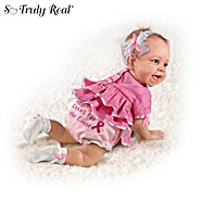 The Ashton-Drake Galleries Breast Cancer Support Lifelike Baby Doll: Crawl For The Cause at Sears.com