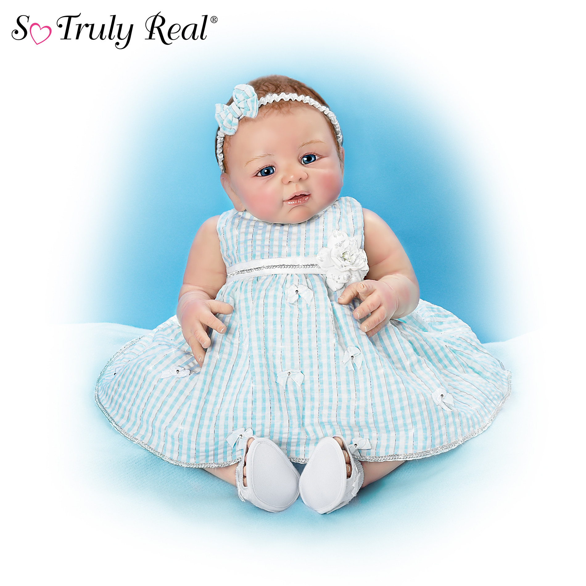 The Ashton-Drake Galleries So Truly Real Bows Of Beauty Lifelike Baby Doll at Sears.com