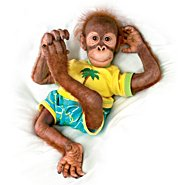 "The Ashton Drake Galleries Ollie 19"" Collectible Orangutan Child Doll at Sears.com"