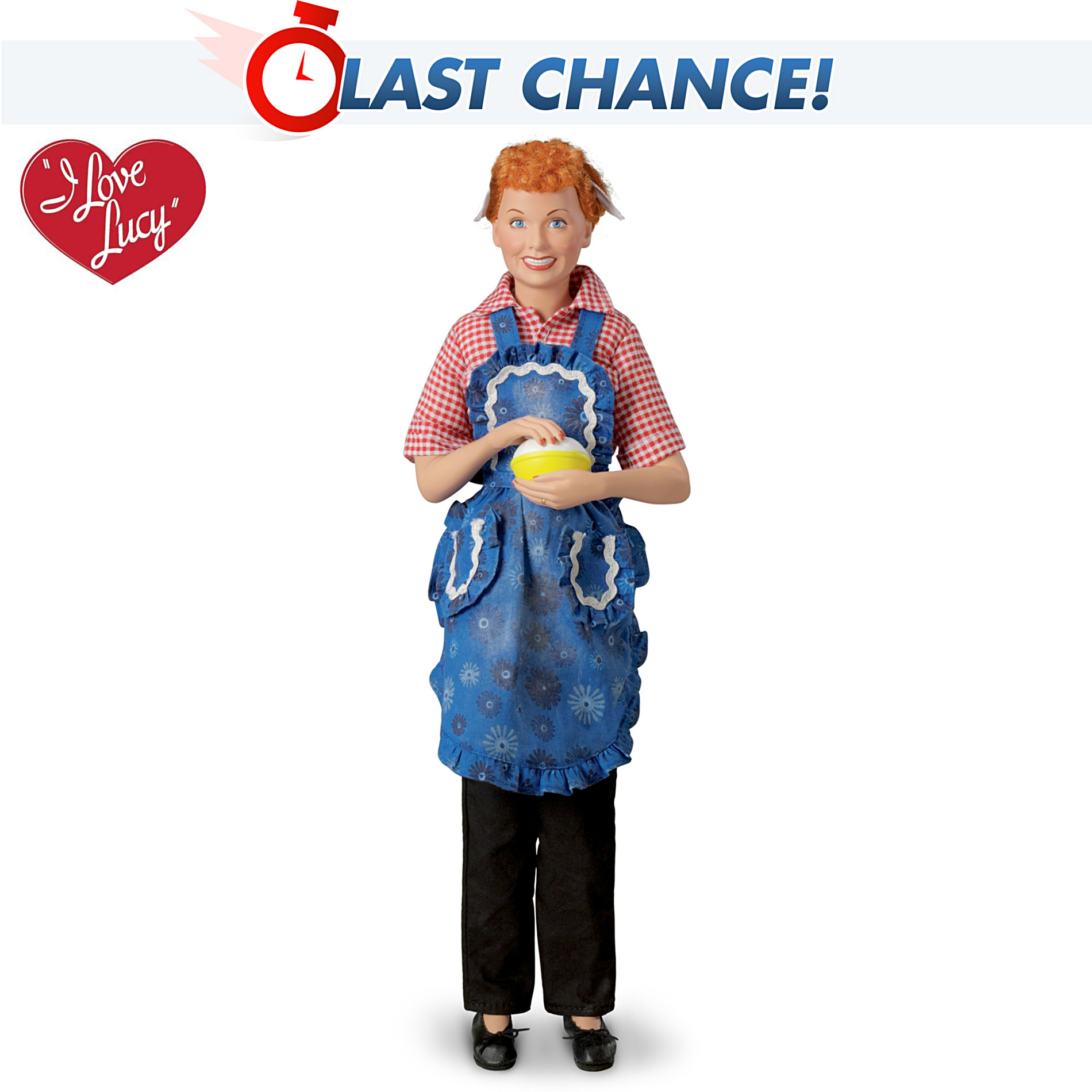 The Ashton-Drake Galleries I LOVE LUCY Pioneer Women Fashion Doll: Kneading Dough at Sears.com