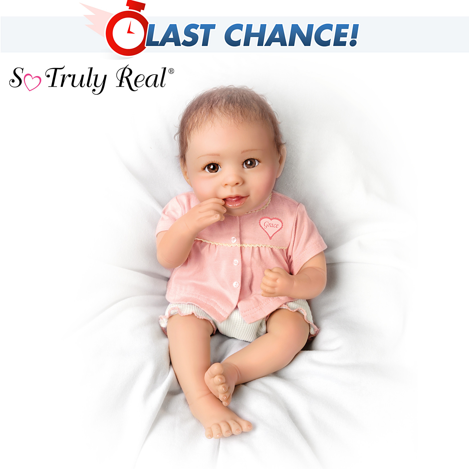 The Ashton-Drake Galleries Precious Grace Lifelike Baby Doll at Sears.com