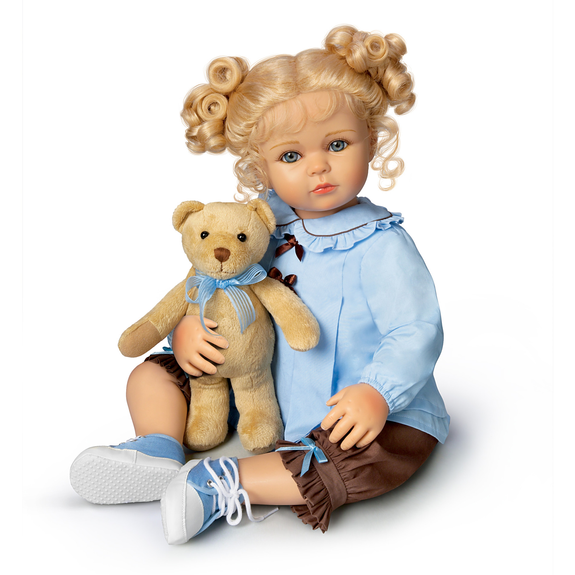 The Ashton-Drake Galleries Sophie Lifelike Baby Girl Doll With Teddy Bear at Sears.com