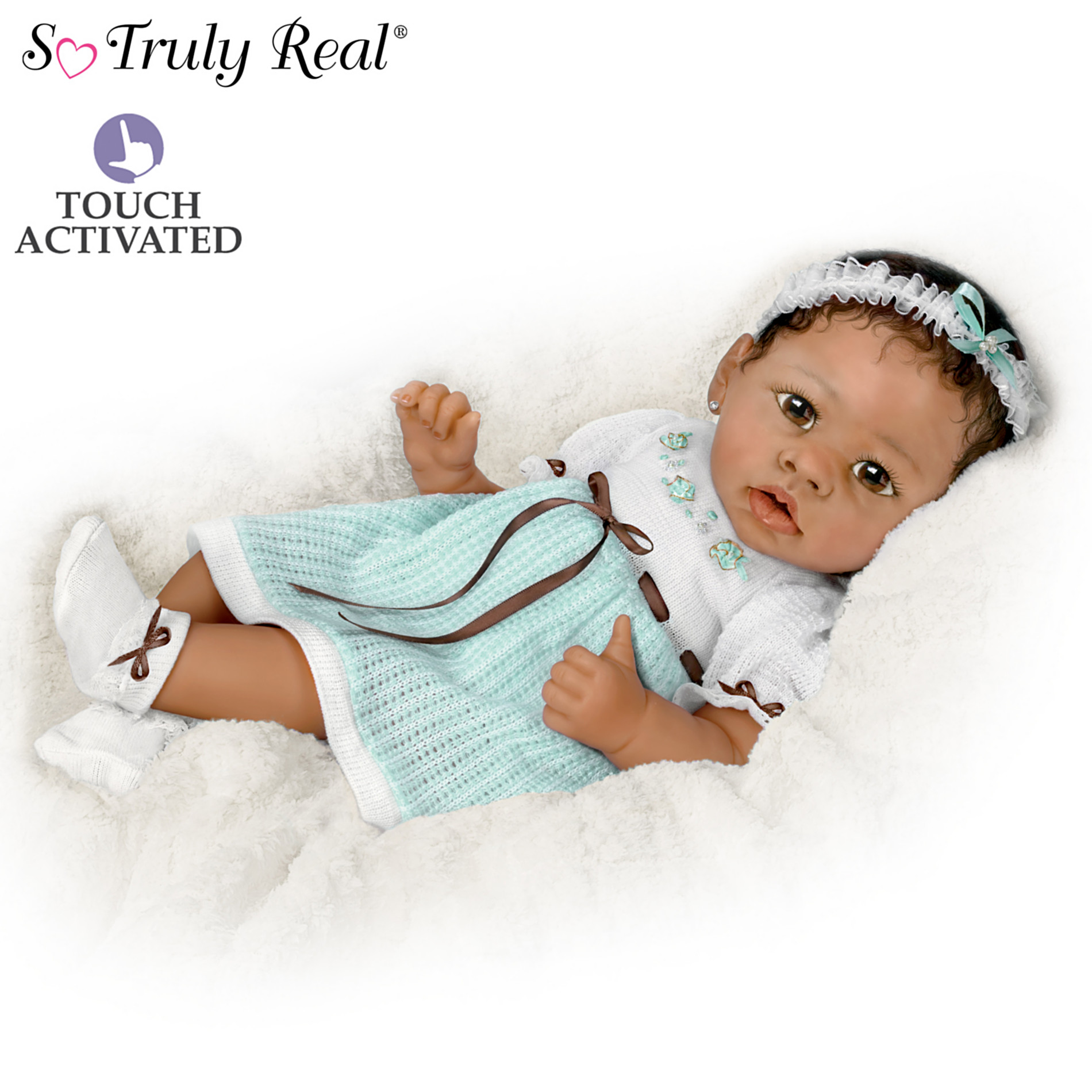 The Ashton-Drake Galleries Alicia's Gentle Touch Realistic Interactive Baby Doll at Sears.com