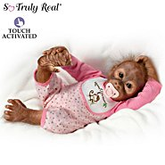 The Ashton Drake Galleries Leila's Loving Touch Baby Monkey Doll at Sears.com