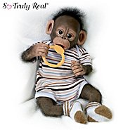 The Ashton Drake Galleries Doll: Baby Zeke Monkey Doll at Sears.com