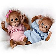 The Ashton Drake Galleries Monkey Baby Doll Set: Double Trouble at Sears.com
