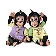 The Ashton Drake Galleries Dolls: Monkey See, Monkey Do Monkey Doll Set at Sears.com
