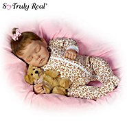 The Ashton Drake Galleries Sweet Dreams Ellie Lifelike Doll With Plush Teddy-Bear at Sears.com