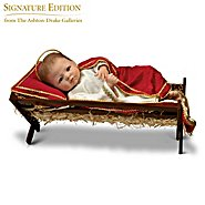 The Ashton Drake Galleries Doll: Jesus, The Savior Is Born Baby Jesus With Wooden Manger Nativity Doll at Sears.com