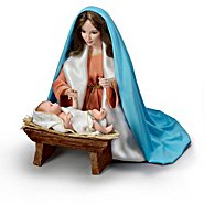 The Ashton Drake Galleries Judy Belle Mary And Baby Jesus Religious Porcelain Portrait Doll at Sears.com
