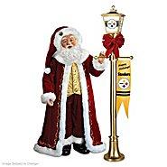 The Ashton Drake Galleries Karen Vander Logt Light Up The Season Pittsburgh Steelers Santa Claus Doll With Lamplight at Sears.com