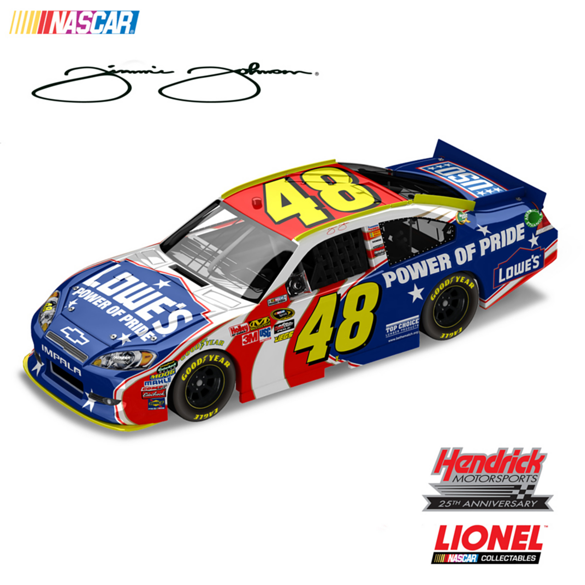 The Hamilton Collection 1:24-Scale Jimmie Johnson No. 48 Lowe's Power Of Pride 2011 Chevrolet Impala Diecast Car at Sears.com