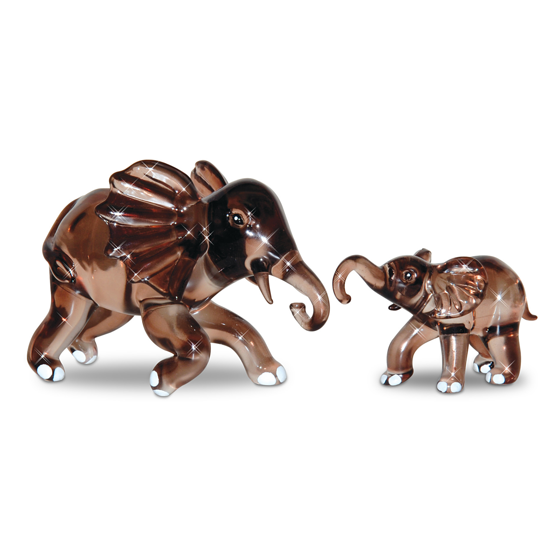The Hamilton Collection Figurine: A Loving Hand To Hold Art Glass Elephant Figurine at Sears.com
