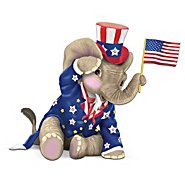 The Hamilton Collection Peanut Pals Patriotic Elephant Figurine: O! Say Can You See at Sears.com