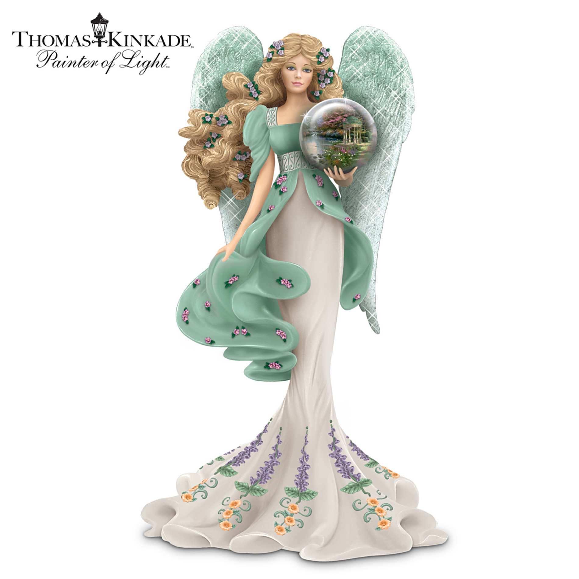 The Hamilton Collection Thomas Kinkade Religious Figurine: Guardian Of The Garden Of Prayer at Sears.com