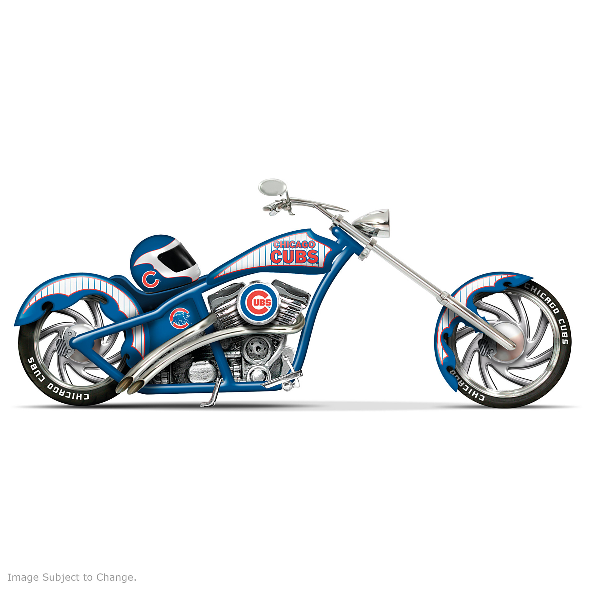 The Hamilton Collection MLB Chicago Cubs Motorcycle Figurine: Home Run Racer at Sears.com