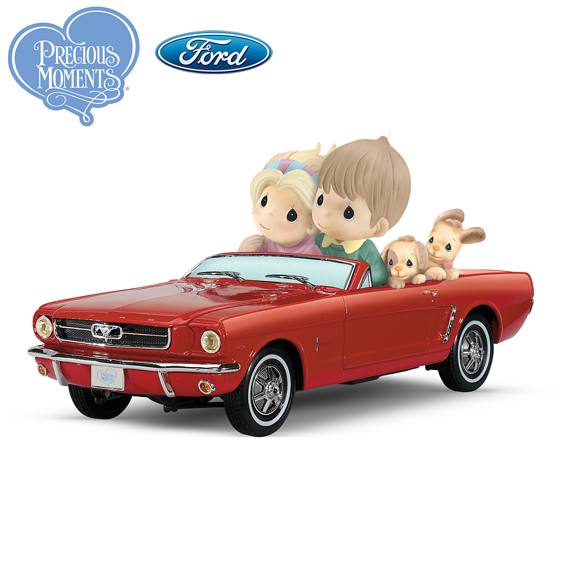 The Hamilton Collection Precious Moments 1964 1/2 Ford Mustang Figurine: Just Me And You With The Horizon In View at Sears.com