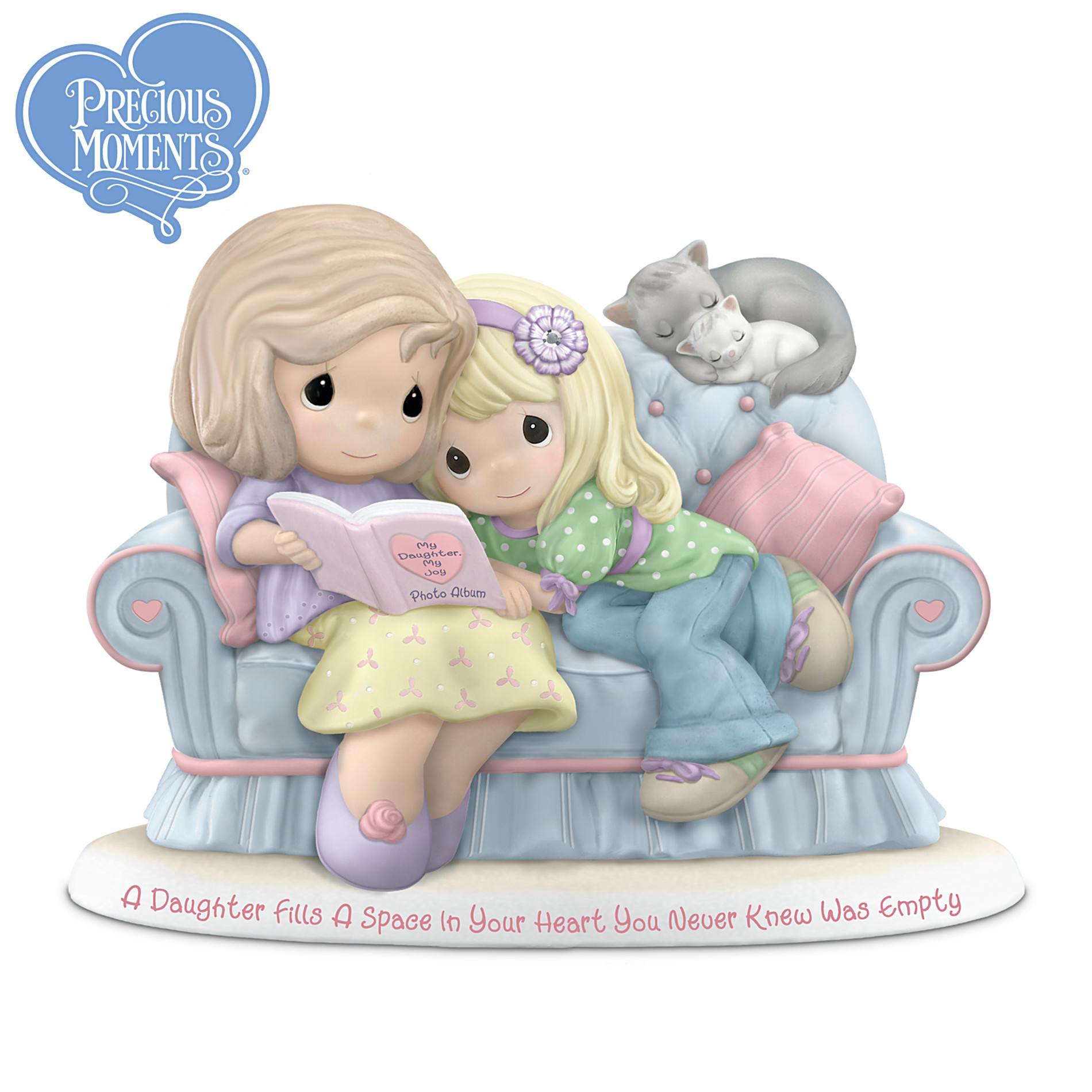 The Hamilton Collection Precious Moments Figurine: A Daughter Fills A Space In Your Heart You Never Knew Was Empty at Sears.com