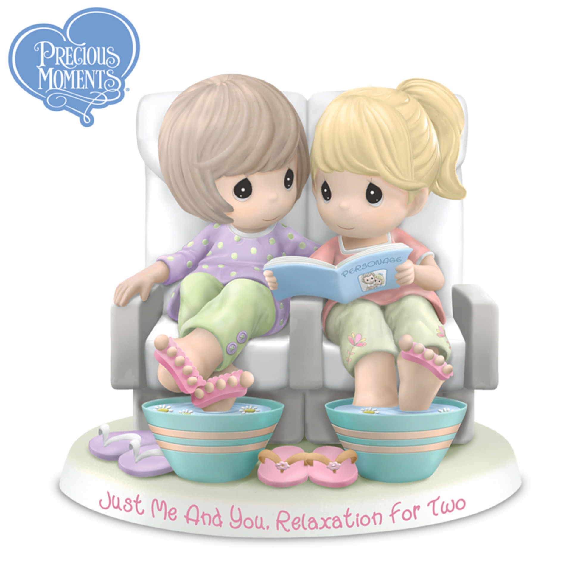 The Hamilton Collection Figurine: Precious Moments Just Me And You, Relaxation For Two Figurine at Sears.com