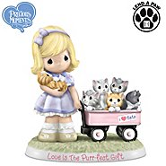 The Hamilton Collection Figurine: Precious Moments Love Is The Purr-fect Gift Figurine at Sears.com