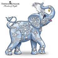 The Hamilton Collection Thomas Kinkade Dazzling Delight: Collectible Elephant Figurine With Swarovski Crystal at Sears.com