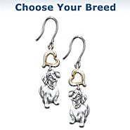 The Bradford Exchange Loyal Companion Dog Lover Keepsake Earrings at Sears.com