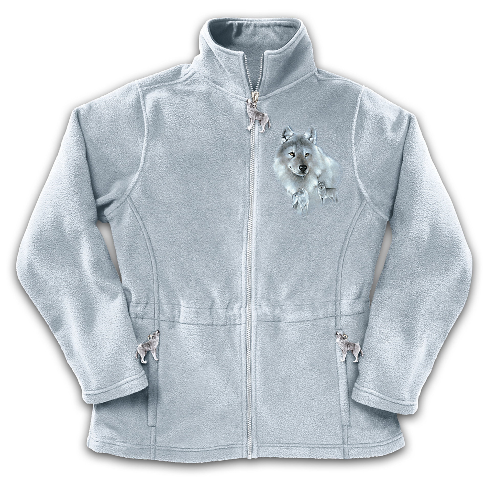 The Bradford Exchange Women's Fleece Jacket With Wolf Art: Spirit Of The Wilderness at Sears.com