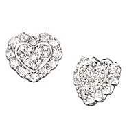 The Bradford Exchange Hearts Of Love Heart Shaped Diamond Earrings: Romantic Gift For Her at Sears.com