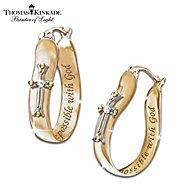 The Bradford Exchange Thomas Kinkade Religious Diamond Earrings: Believe at Sears.com