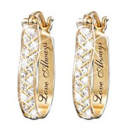 The Bradford Exchange For Love Always Diamond Earrings at Sears.com