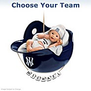 The Bradford Exchange Officially Licensed Major League Baseball Personalized Baby's First Christmas Ornament at Sears.com