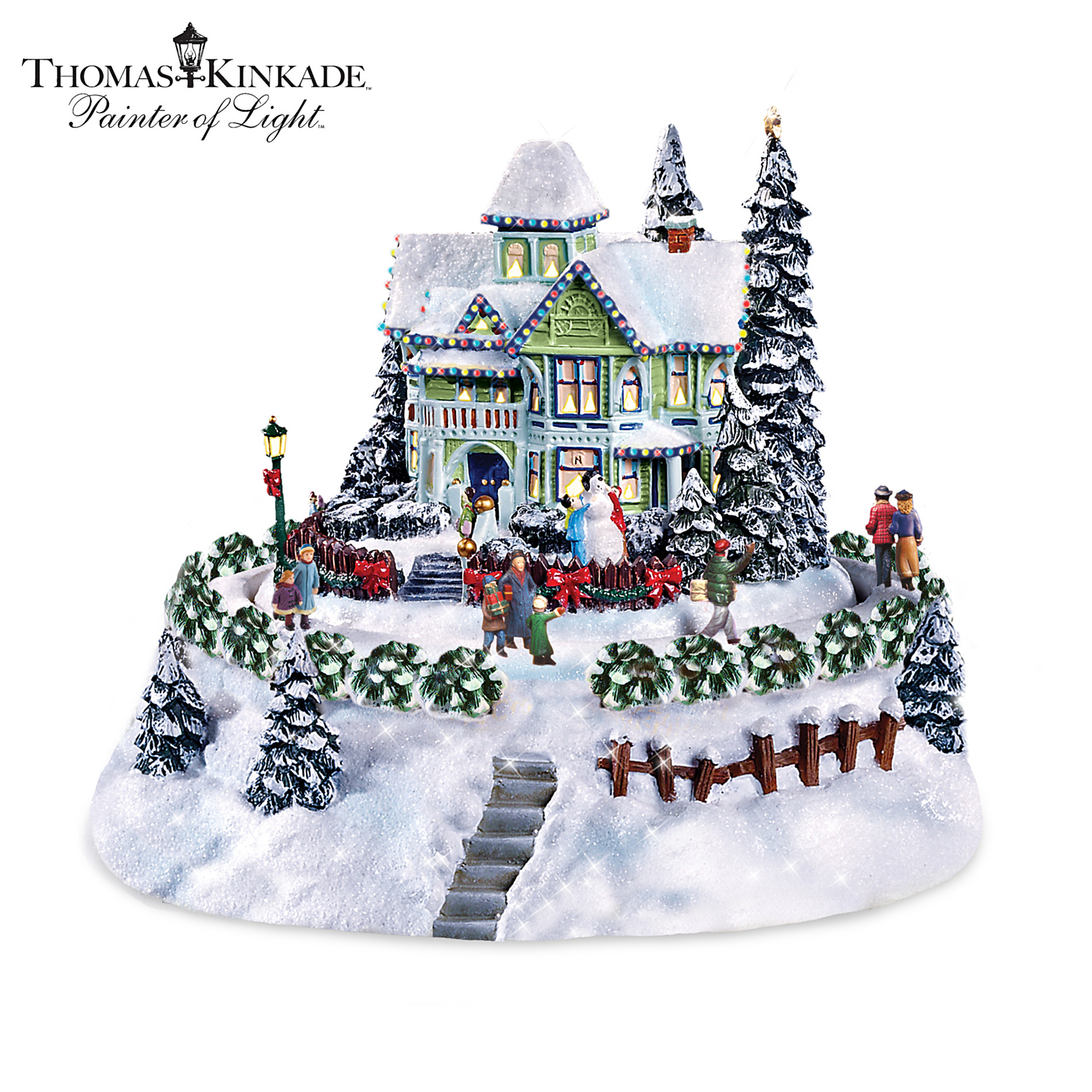Hawthorne Village Thomas Kinkade Sculpture: The Snowflake Bed And Breakfast at Sears.com