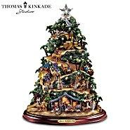 Hawthorne Village Thomas Kinkade Illuminated Nativity Tabletop Tree: Glory To The Newborn King at Sears.com