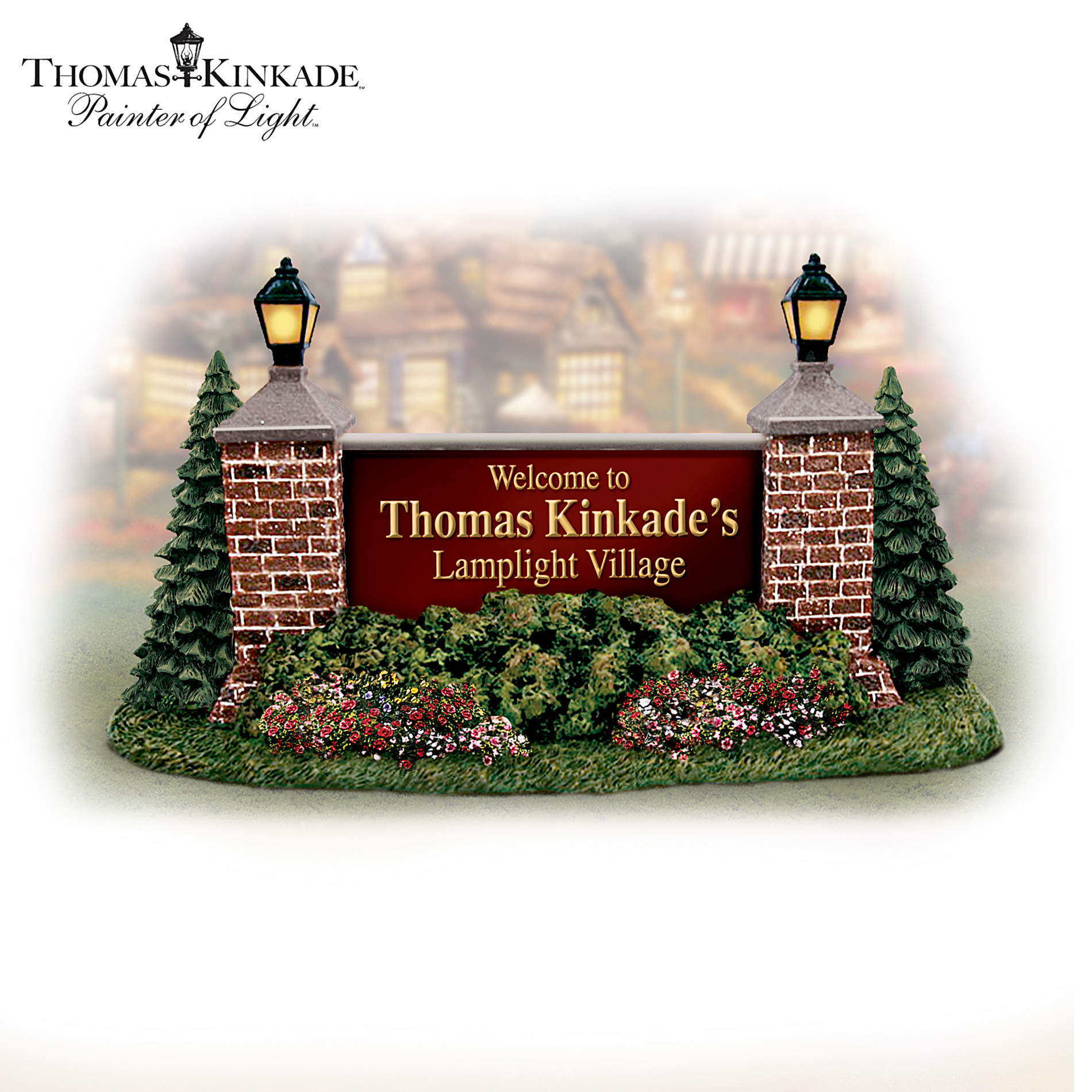 Hawthorne Village Thomas Kinkade Lamplight Greetings Village Accessory at Sears.com