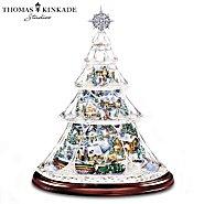 Hawthorne Village Thomas Kinkade Animated Crystal Tabletop Christmas Tree: Holiday Reflections at Sears.com