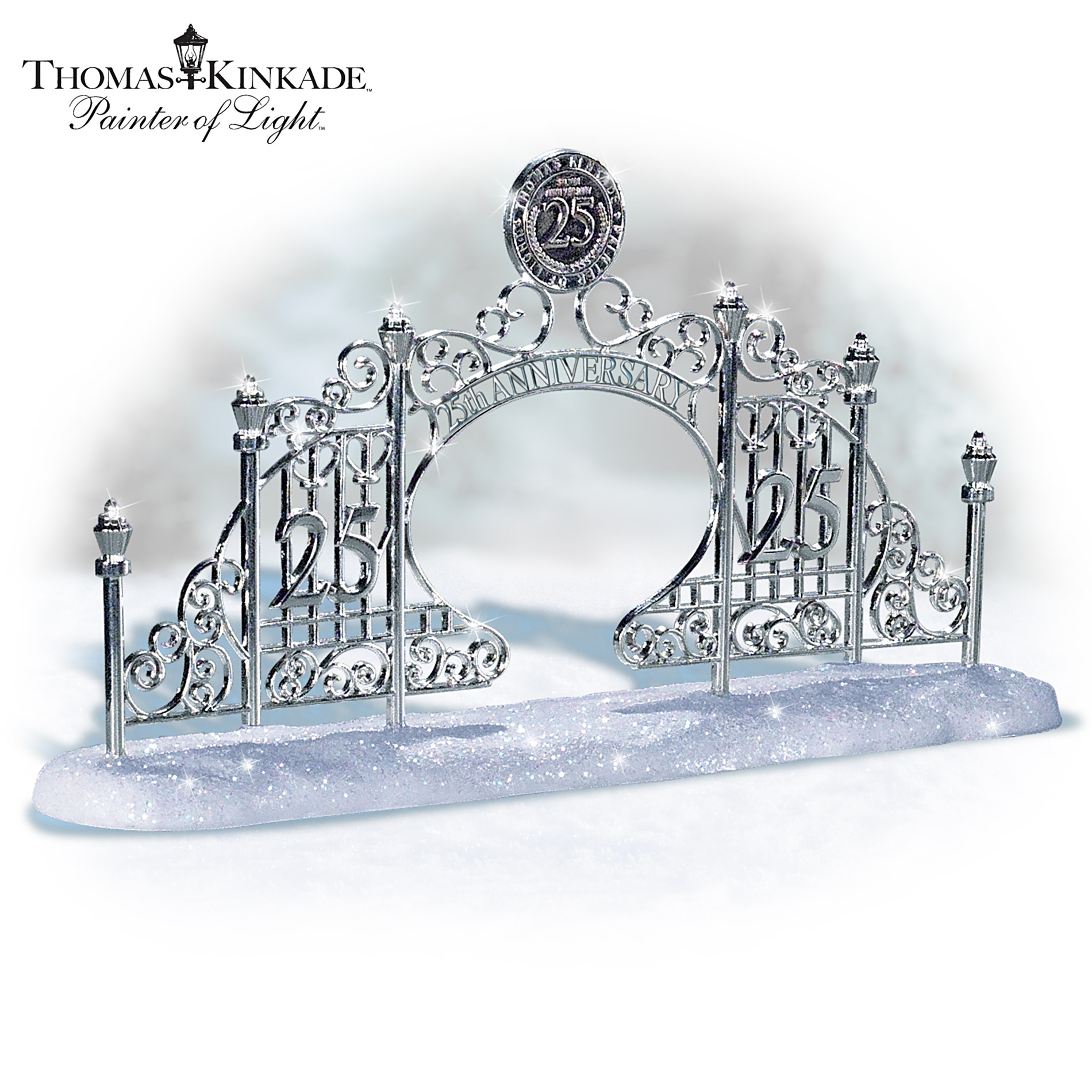 The Bradford Exchange Thomas Kinkade 25th Anniversary Gate Winter Village Accessory at Sears.com