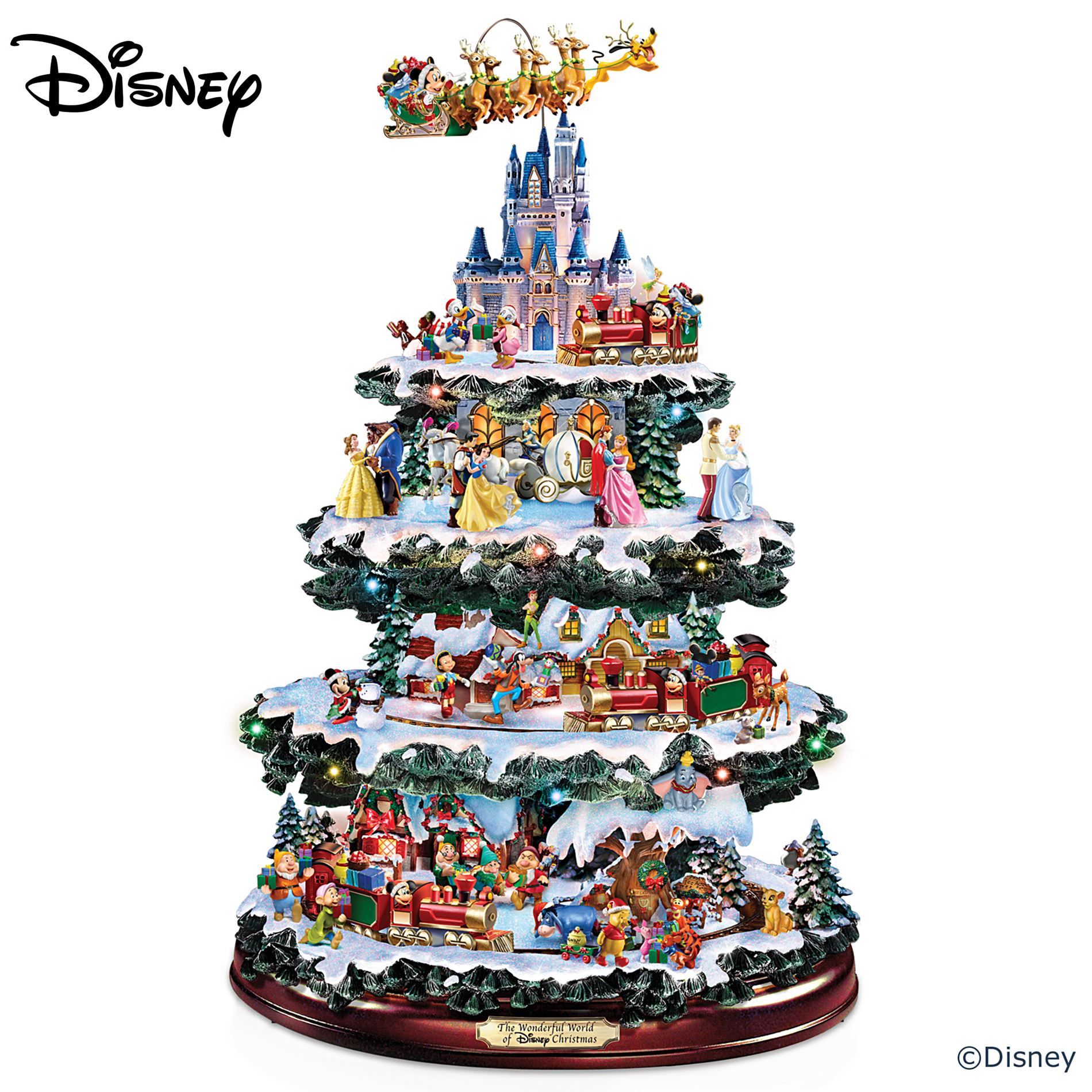 The Bradford Exchange Disney Tabletop Christmas Tree: The Wonderful World Of Disney at Sears.com