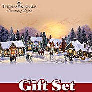 The Bradford Exchange Thomas Kinkade Village Christmas: Merchants Row Gift Set at Sears.com